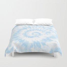 Lighter Ocean Blue Tie Dye Duvet Cover