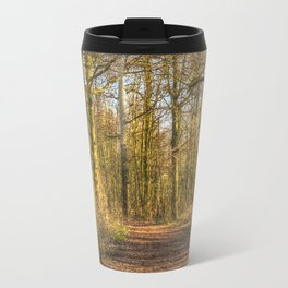 The Forest Path in Springtime Travel Mug