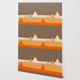 Orange Mountains #society6 #decor #buyart Wallpaper