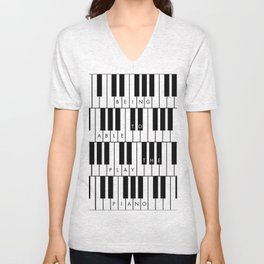 Being able to play the piano. By Angelica Ramos Unisex V-Neck