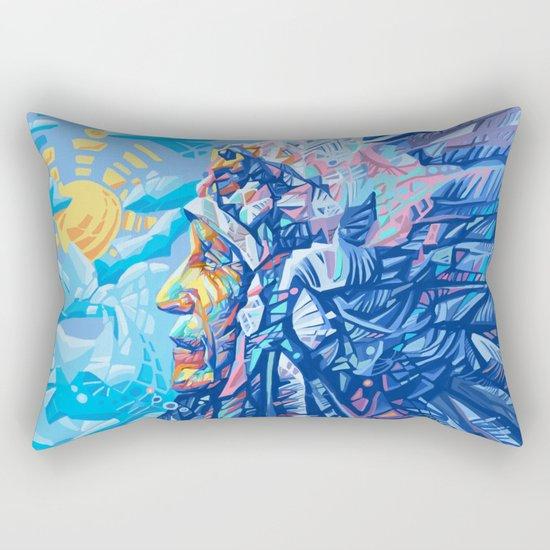 native american portrait 3 Rectangular Pillow