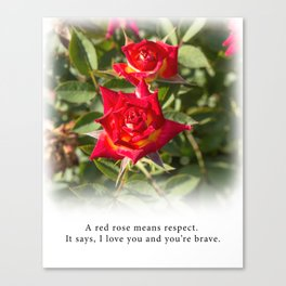 Red Rose - Tea With Roses Canvas Print