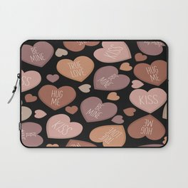 Creative language of hearts in seamless pattern Laptop Sleeve