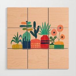 Plant mania Wood Wall Art