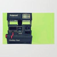 polaroid Area & Throw Rugs featuring Polaroid by Brieana