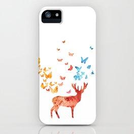 Deer and Butterflies iPhone Case