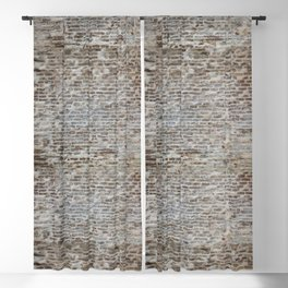 brick wall pattern and texture Blackout Curtain