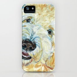 Stanley the Goldendoodle Dog Portrait iPhone Case