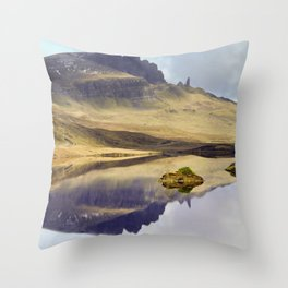 Reflection of Storr Throw Pillow