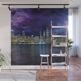 Spacey Chicago Skyline Wall Mural