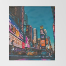 City Lights NYC (Color) Throw Blanket