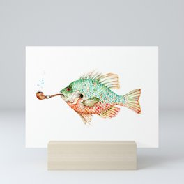 River Sunfish with a Pipe Mini Art Print