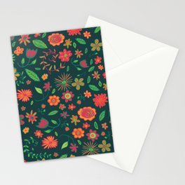 Spring Florals Green Stationery Cards