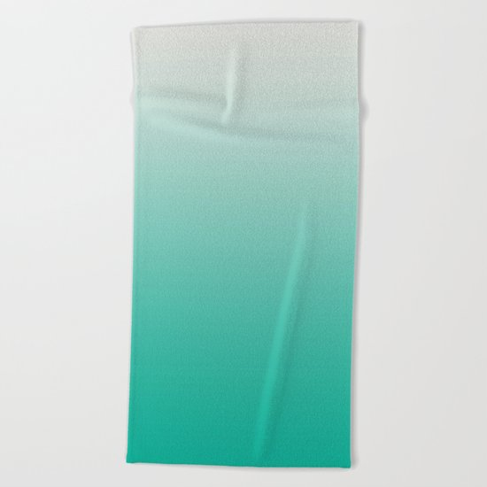 Mint Ombre Beach Towel