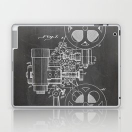 Film Projector Patent - Cinema Art - Black Chalkboard Laptop & iPad Skin