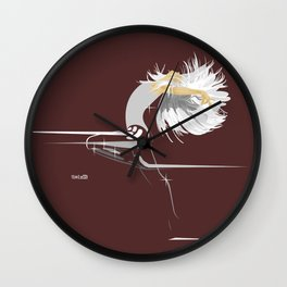 White Girl on Dark Brown Wall Clock