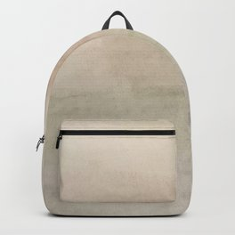 Ombre Grey Mist Watercolor Hand-Painted Effect Backpack
