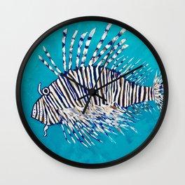 Lion Fish 3, a pretty predator & invasive species Wall Clock