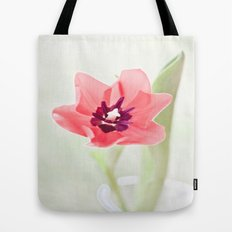 Pretty Pink Tulip Tote Bag