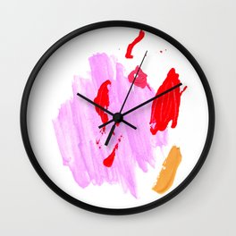 Mixed Up / Red & Purple Wall Clock