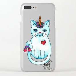 Icon Cats V Clear iPhone Case