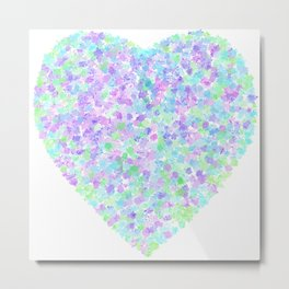 A Spring Time Heart Metal Print