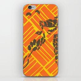 Screenprinted Giraffe iPhone Skin