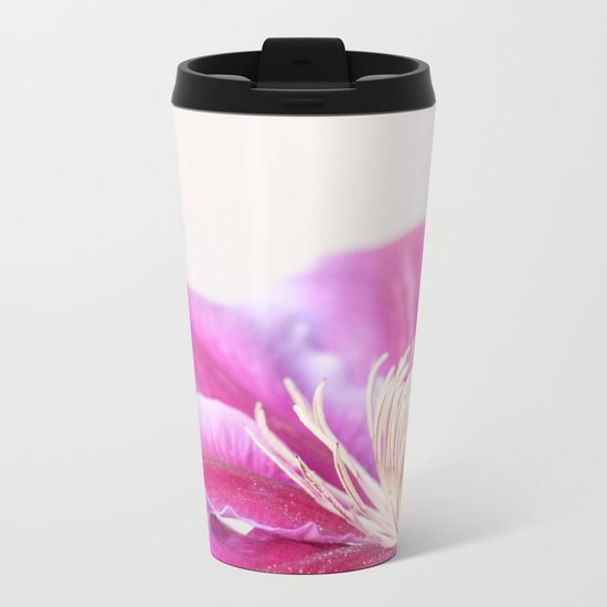 Clematis Flower Close-Up #1 #decor #art #society6 Metal Travel Mug