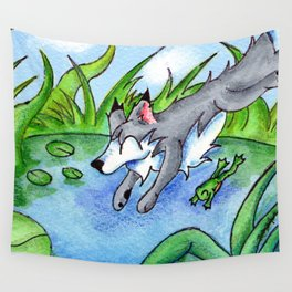 Wolf Pond Wall Tapestry