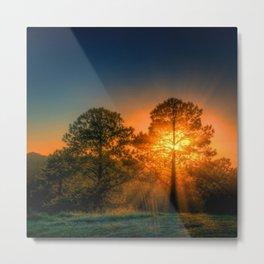 Firey Dawn Metal Print