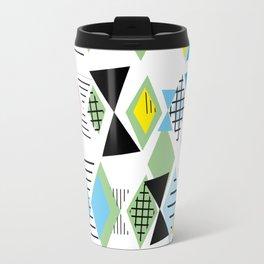 Geometric elements Memphis Postmodern Retro style 80-90s. Travel Mug