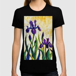 Watercolor Wild Iris on Wrinkled Paper T-shirt