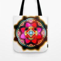 sacred geometry Tote Bags featuring Sacred by Sircasm