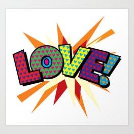 Comic Book Pop Art Sans LOVE! Art Print