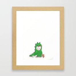 Dino Kid-Dreamers Series#01 Framed Art Print