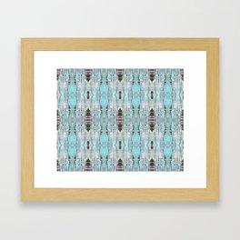 Pattern in Turquoise & Black Framed Art Print
