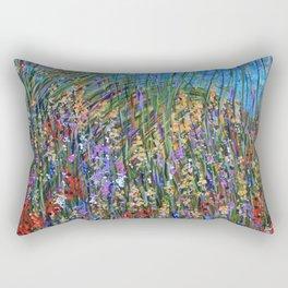 Abstract Floral Art, Seagrass Rectangular Pillow