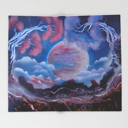 Full Moon - Maybe A Dream Throw Blanket