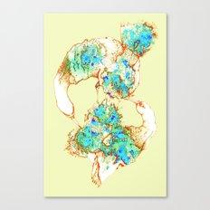 Oiseaux Bleu - digital version Canvas Print