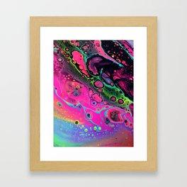Neon Acid Framed Art Print
