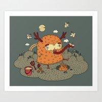 demon Art Prints featuring Demon by bulent gultek