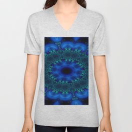 Battling At The Chasm Mandala 9 Unisex V-Neck