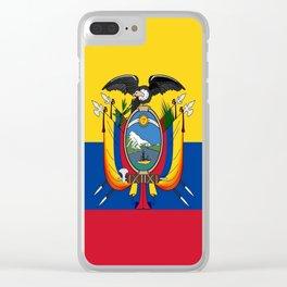 Flag of Ecuador -ecuadorian,Inca,Kichwa,Quito,america, South america,Spanish,Amazonia,latin america Clear iPhone Case
