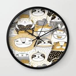 Urban Animals Wall Clock