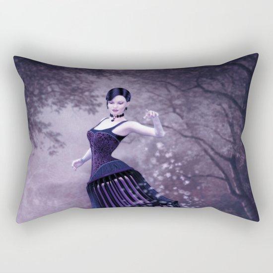 Black magic fairy Rectangular Pillow