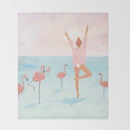 Big Flamingo Throw Blanket