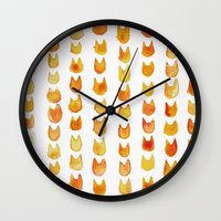 calvin and hobbes Wall Clocks featuring CALVIN by Alex McBain Paints