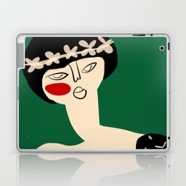 Girl with flower crown Laptop & iPad Skin