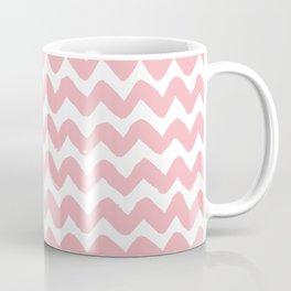 Coral Brushstroke Chevron Pattern Coffee Mug