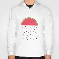 watermelon Hoodies featuring watermelon by miss Sue